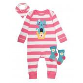 Bubbly Baby Gift Set, Strawberry Stripe